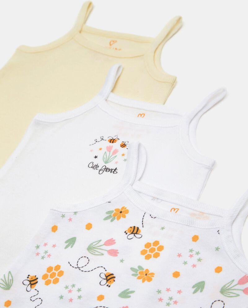 Pack con 3 body costina in cotone organico neonata