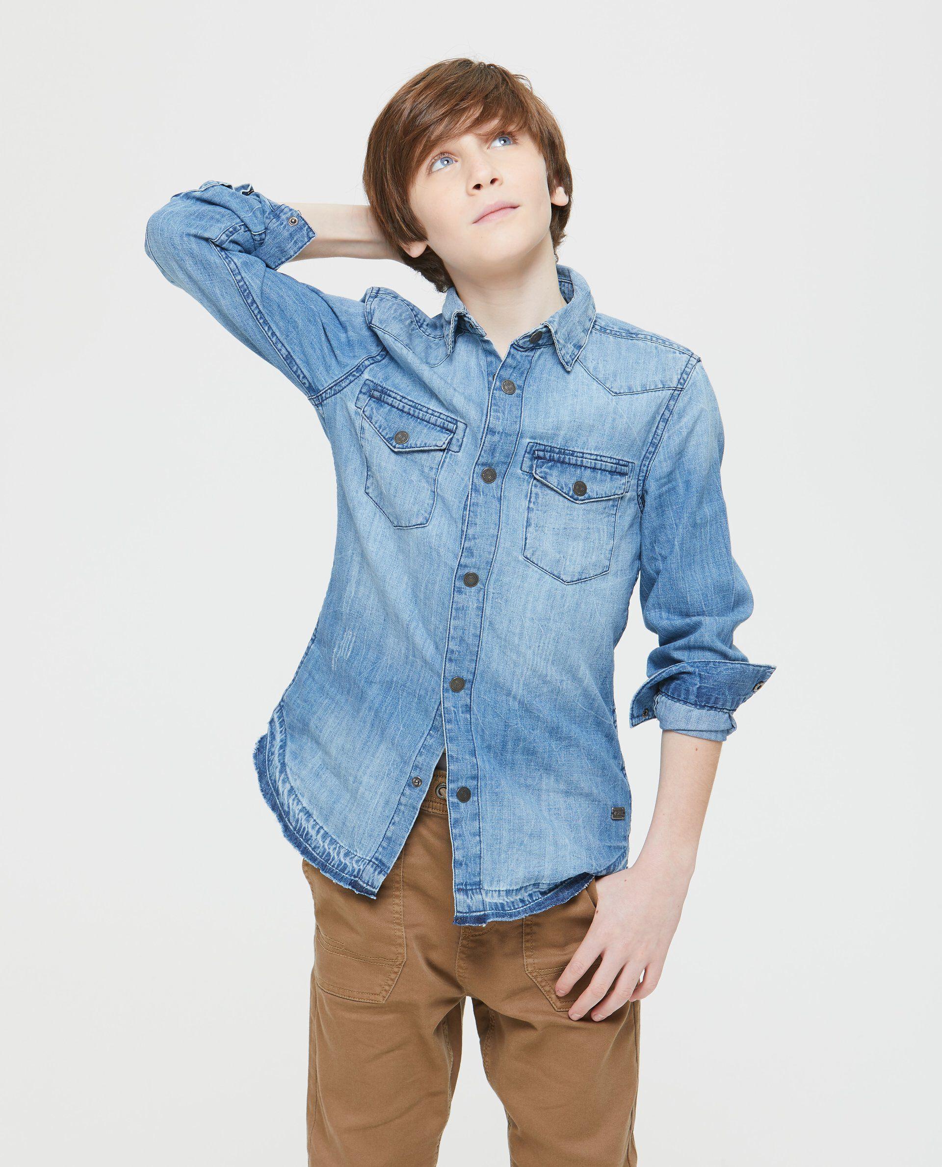 Camicia di jeans effetto vintage