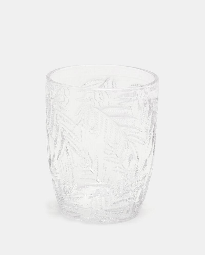 Bicchiere in vetro con foglie cover