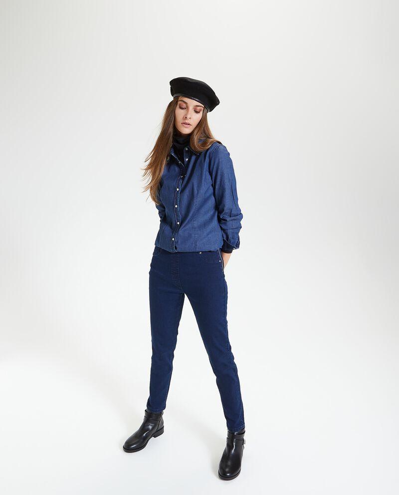 Jeans slim con zip laterale donna