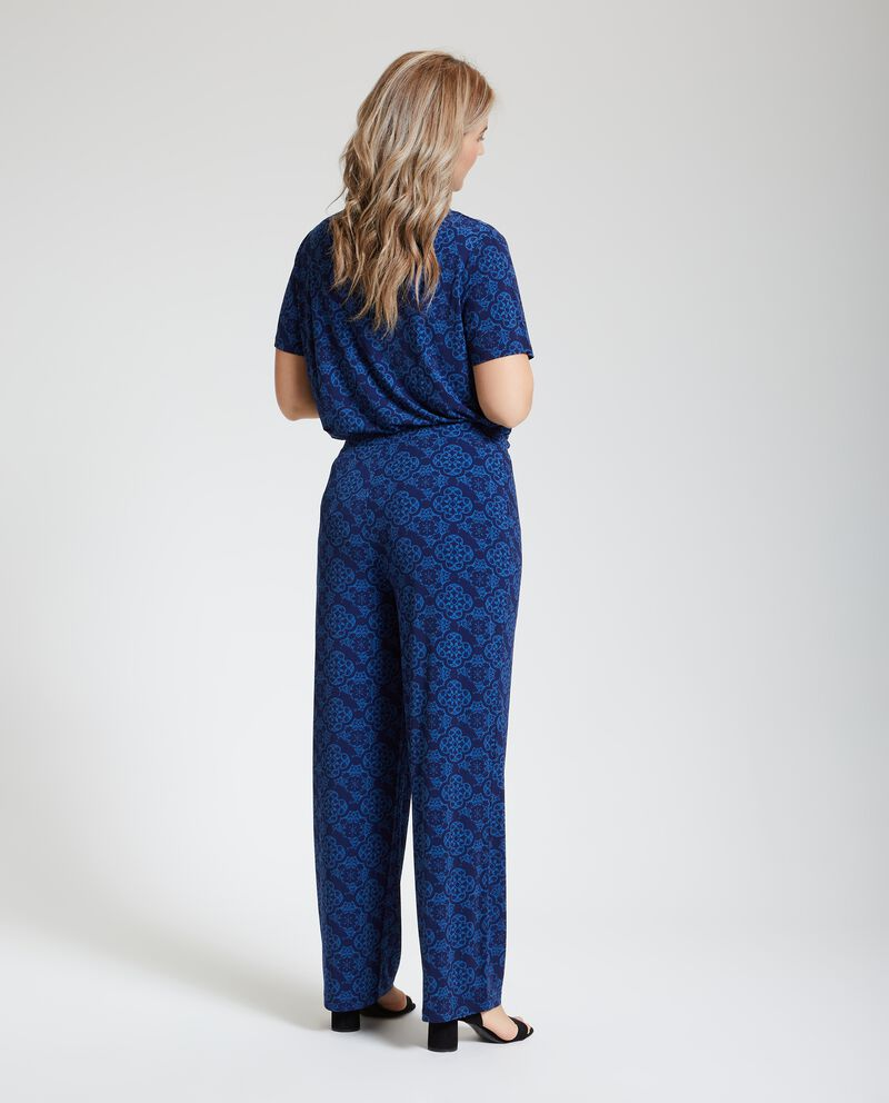 Pantaloni con fantasia arabesque Curvy