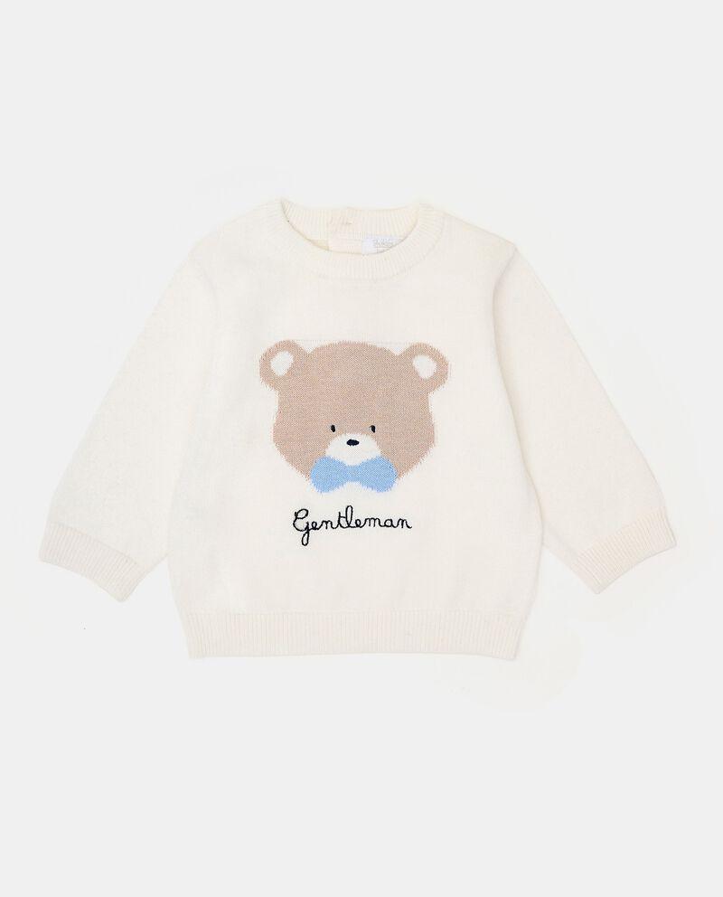 Girocollo con ricamo tricot neonato cover