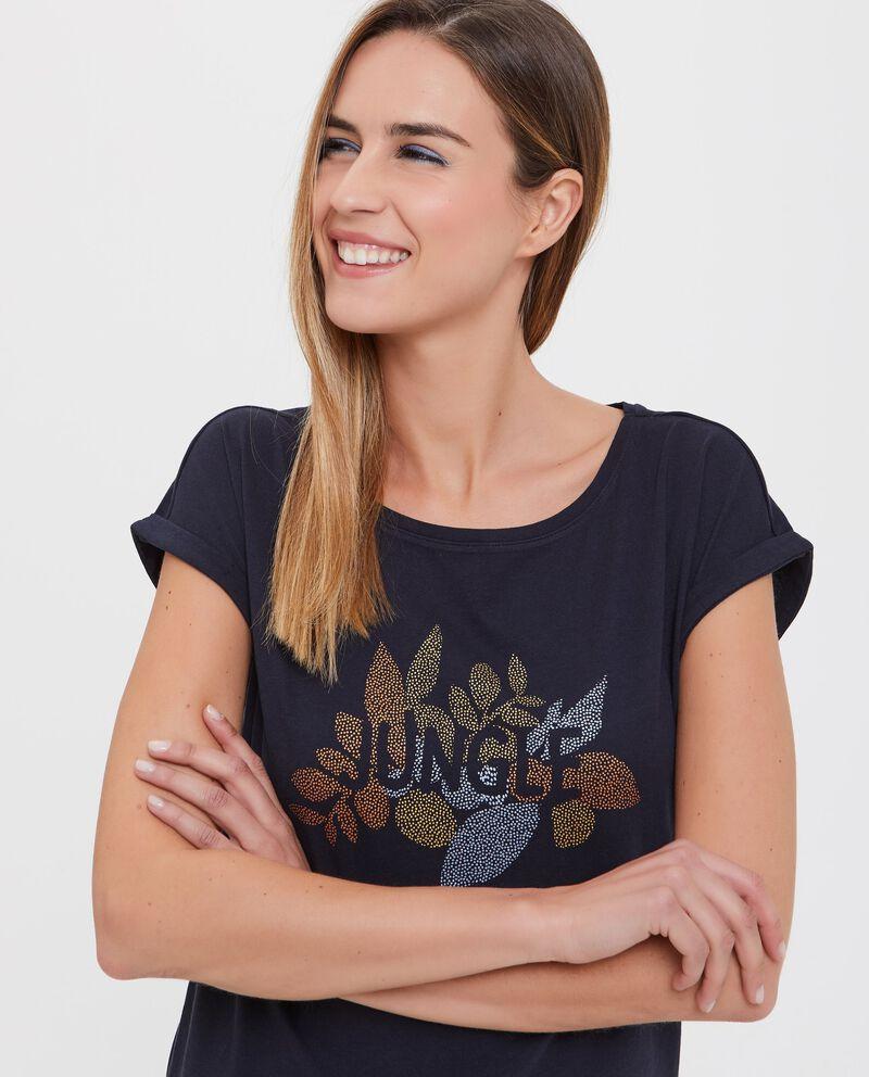 T-shirt in puro cotone con disegno donna
