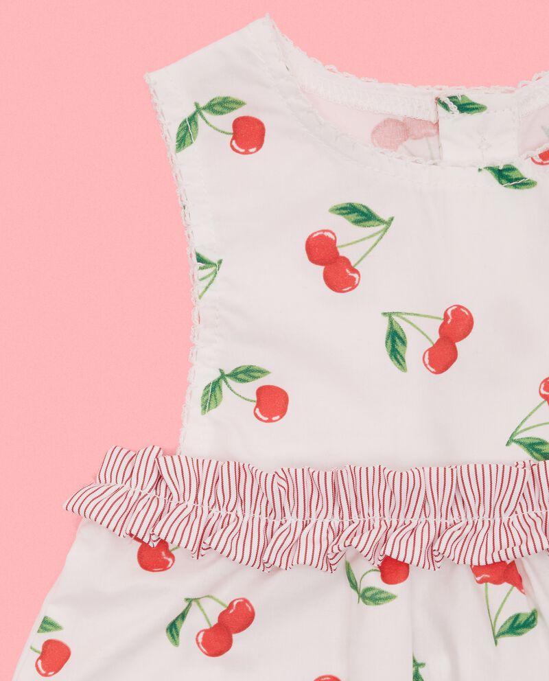 Vestitino in puro cotone in fantasia neonata