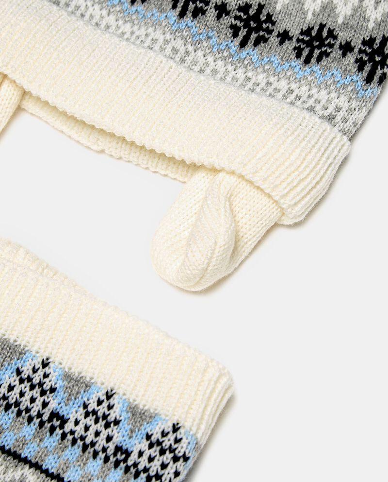 Set composto da berretto e collo in maglia neonatodouble bordered 1