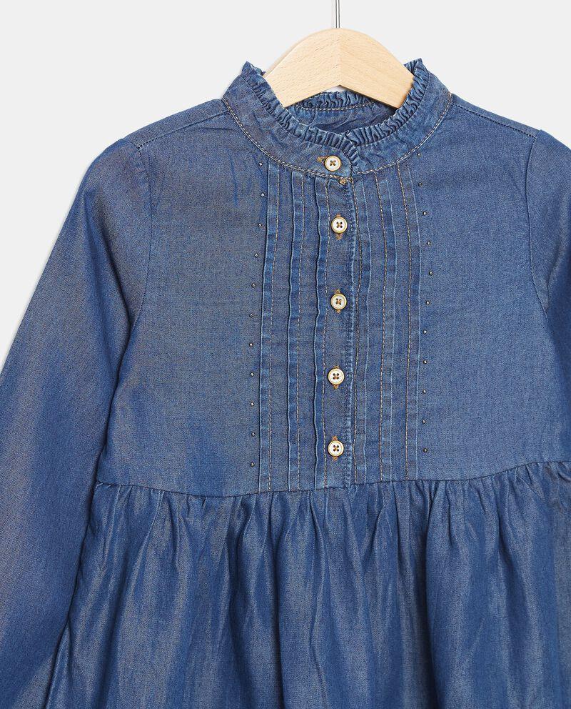 Vestito in lyocell con borchiette bambina single tile 1