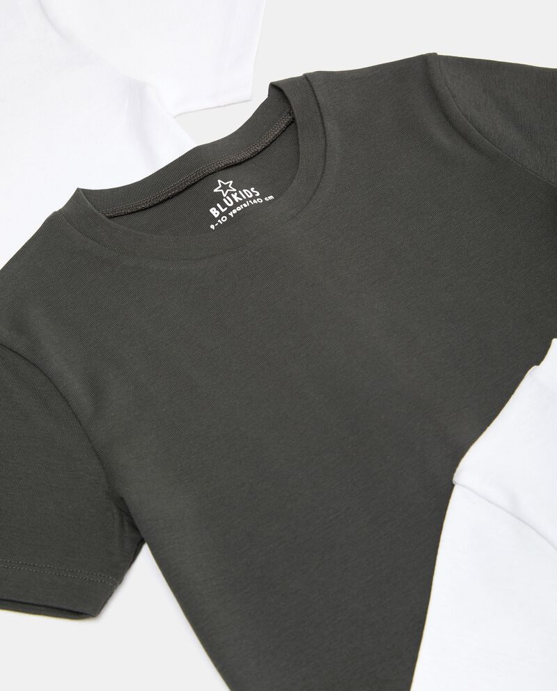 Set con 3 t-shirt intime puro cotone biologico ragazzo single tile 1