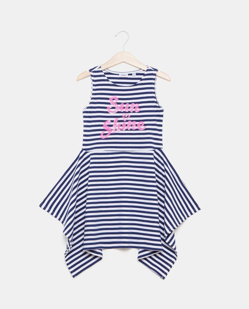 Vestito bambina in cotone biologico jersey a righe