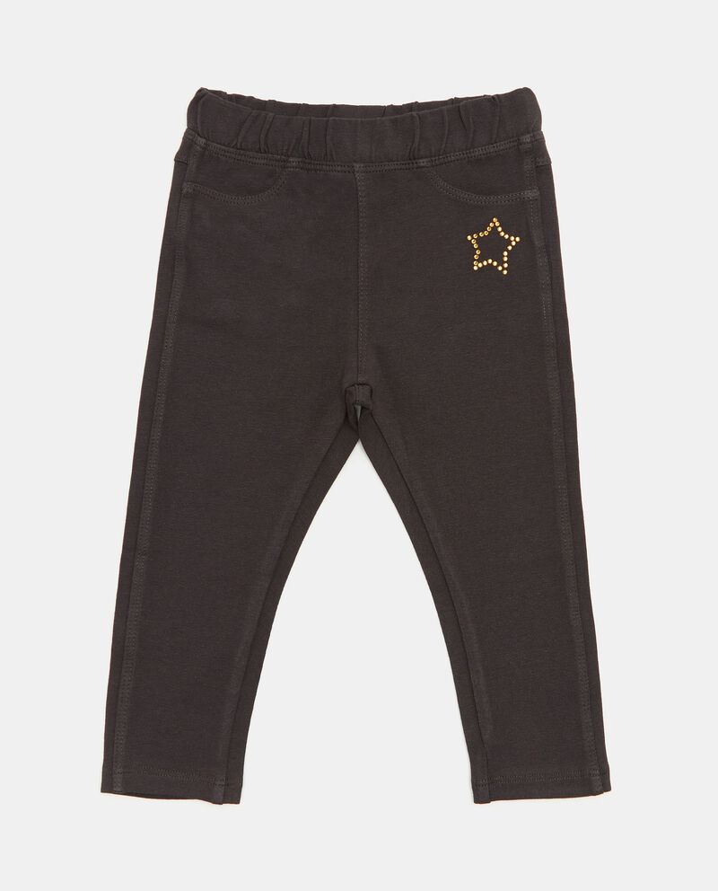 Pantaloni in cotone biologico con stellina neonata