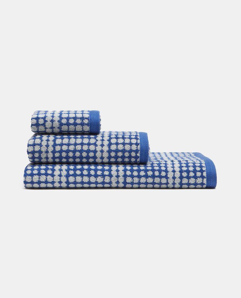 Asciugamano visto in puro cotone multidots