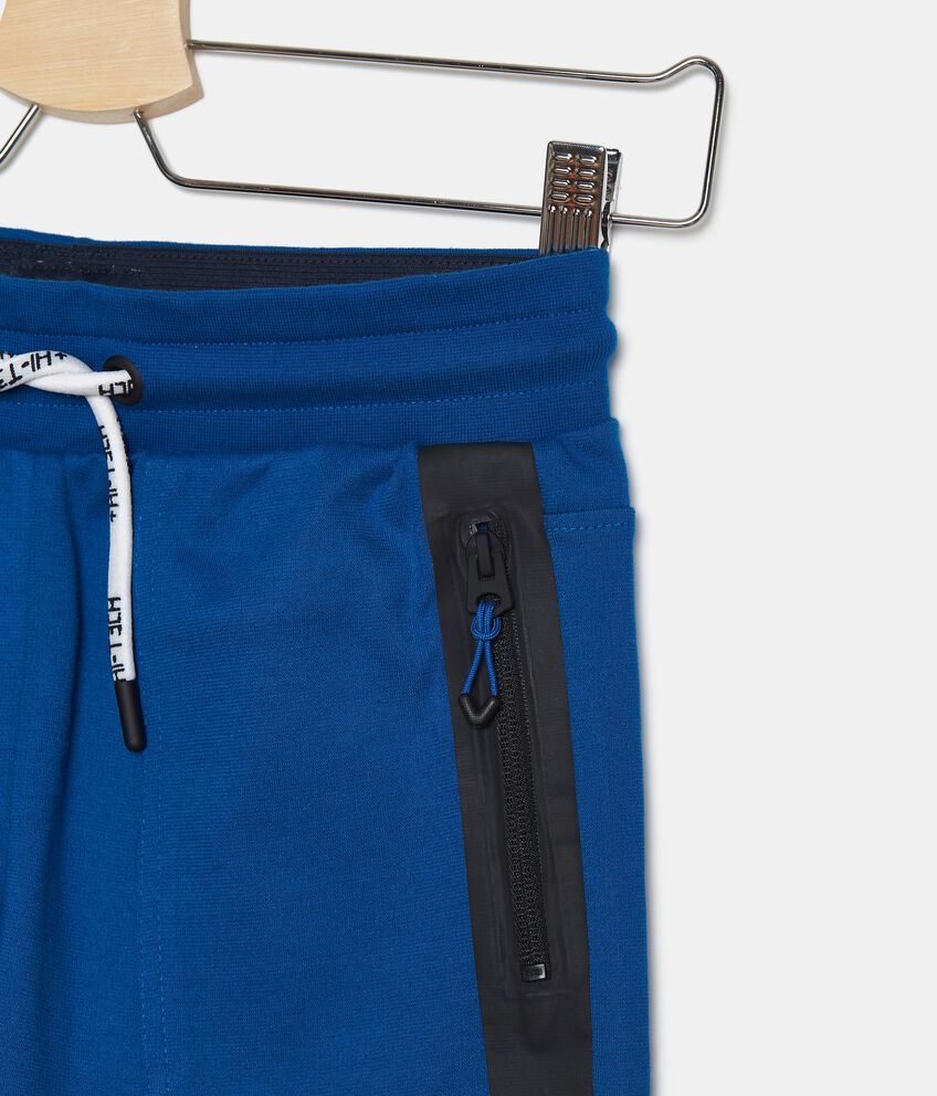 Shorts in felpa leggera di cotone organico ragazzo double 2