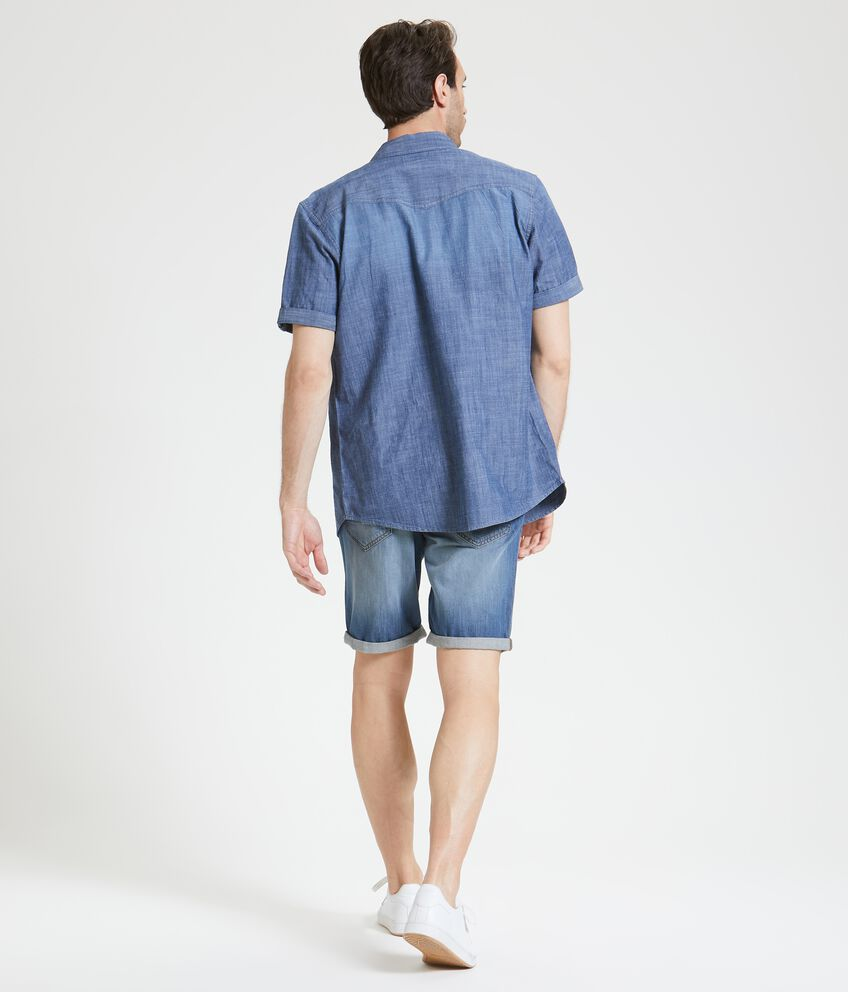Bermuda in jeans puro cotone uomo double 2