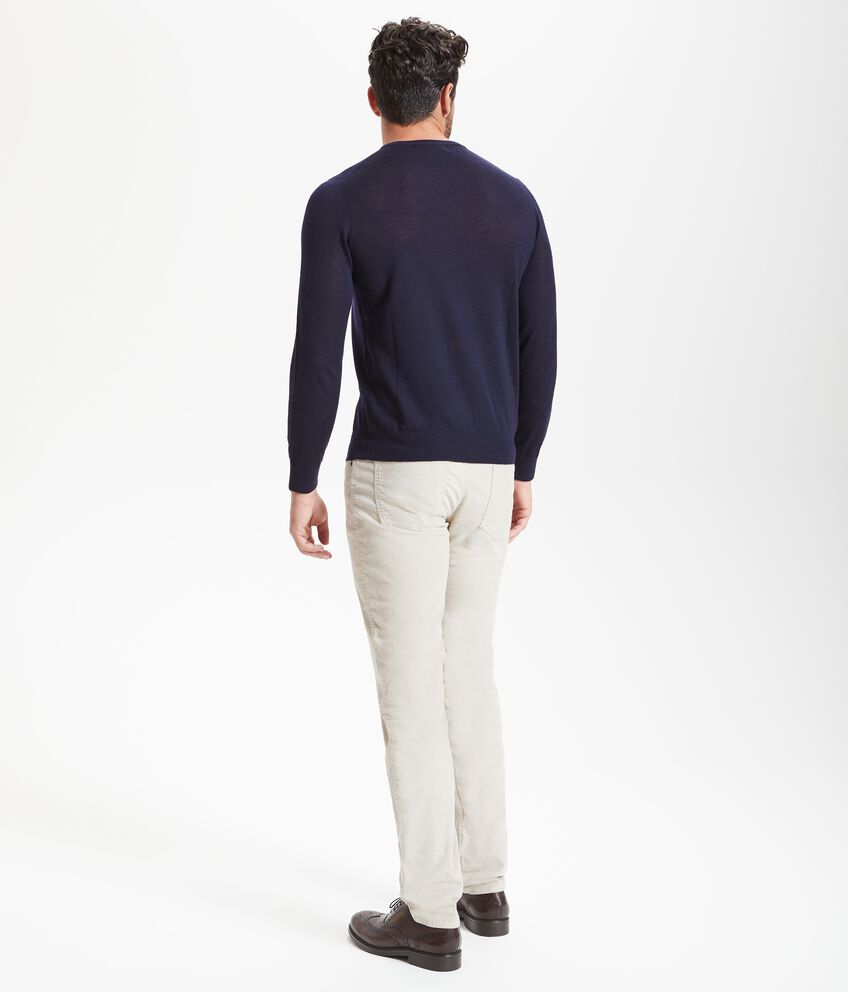 Pullover pura lana merino uomo