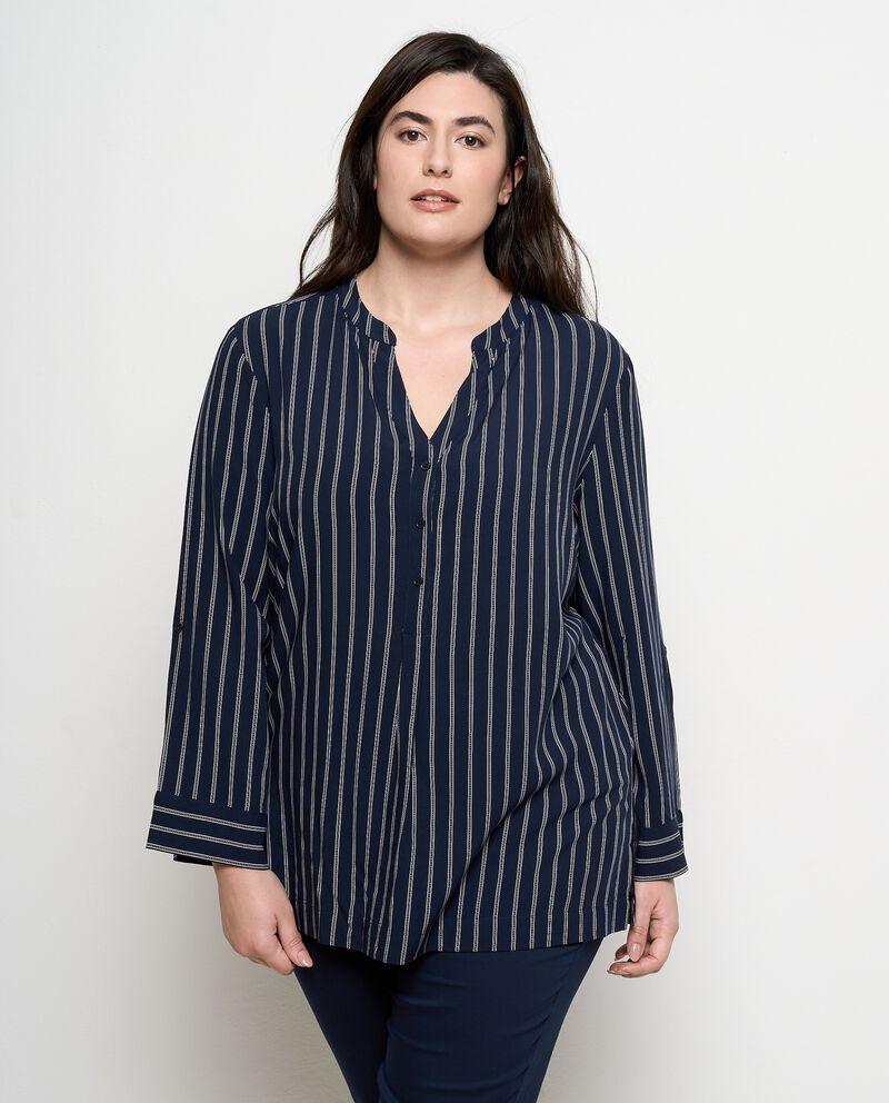 Camicia stripes in pura viscosa donna