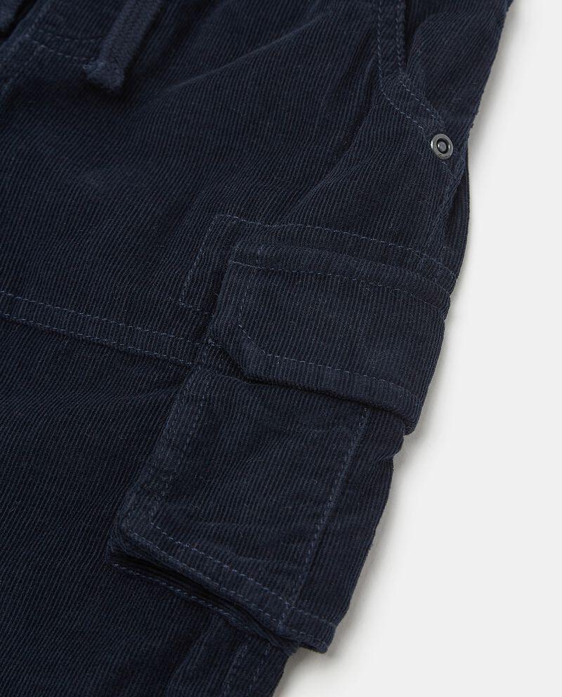 Pantaloni cargo in puro cotone con effetto velluto neonato single tile 1