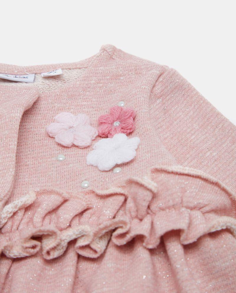 Maglioncino neonata con fiori e applicati