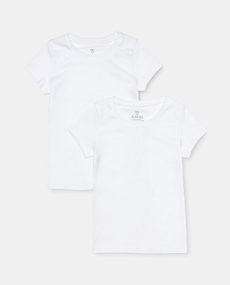 Pack con 2 t-shirt intime in cotone organico bambina cover