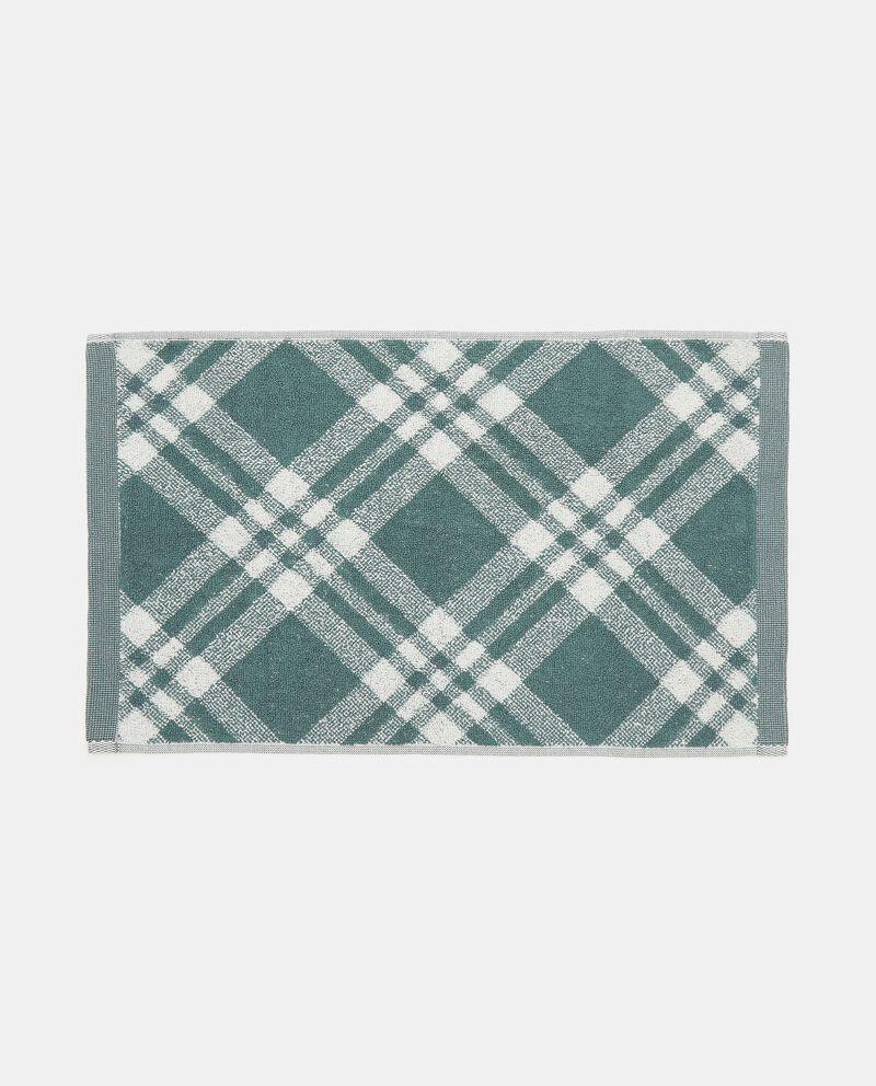 Asciugamano mani decoro scozzese in puro cotone single tile 1