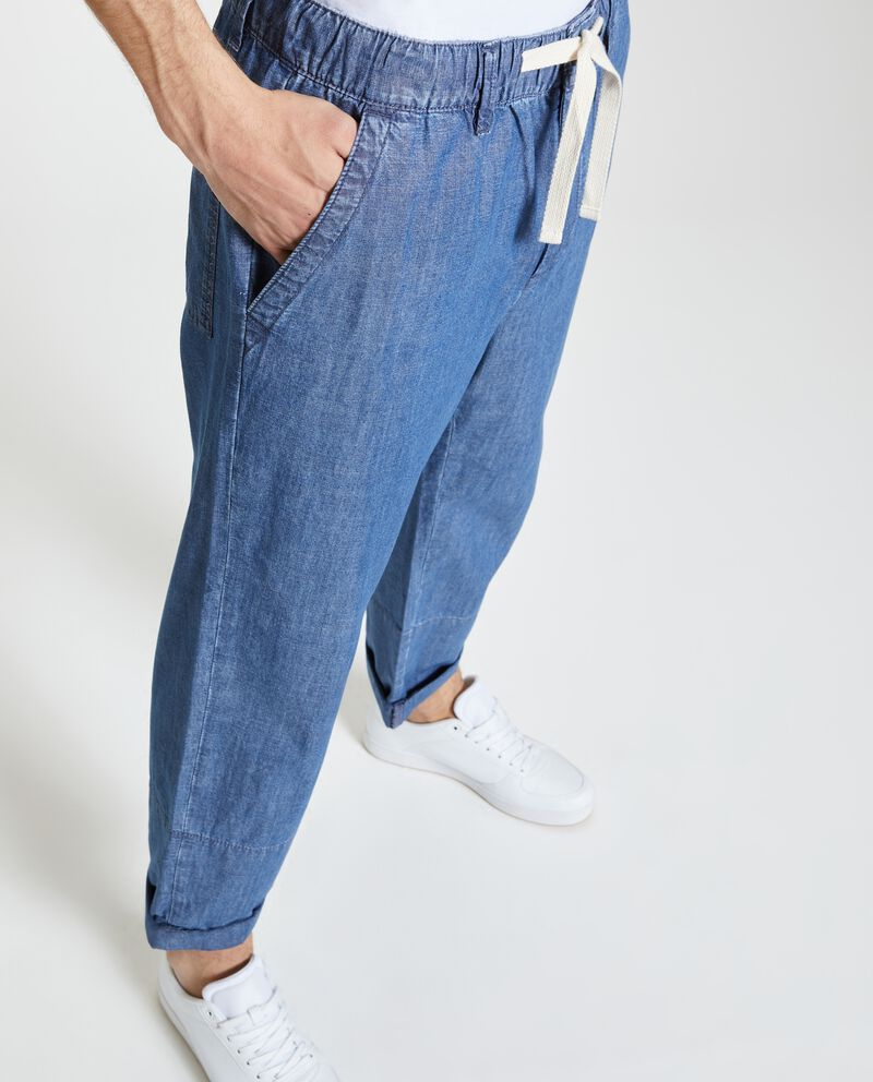 Jeans morbidi in puro cotone uomo