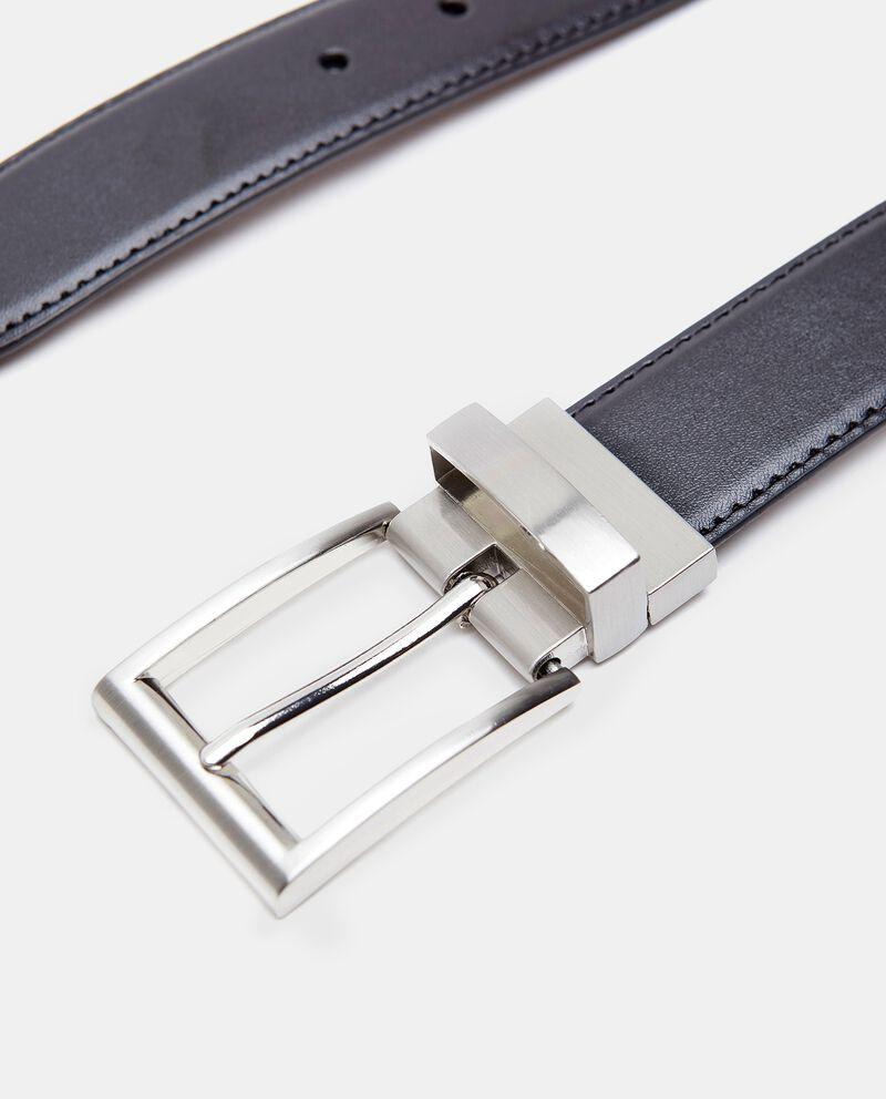 Cintura in eco pelle con fibbia in metallo uomo