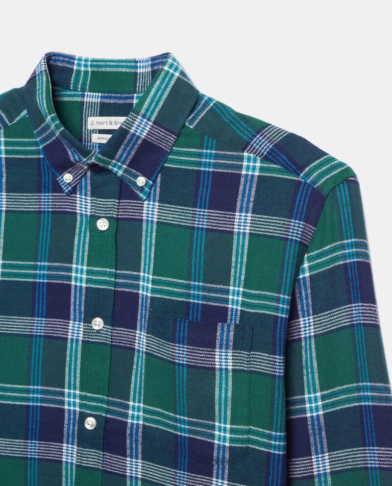 Camicia a quadri di puro cotone regular fit uomo