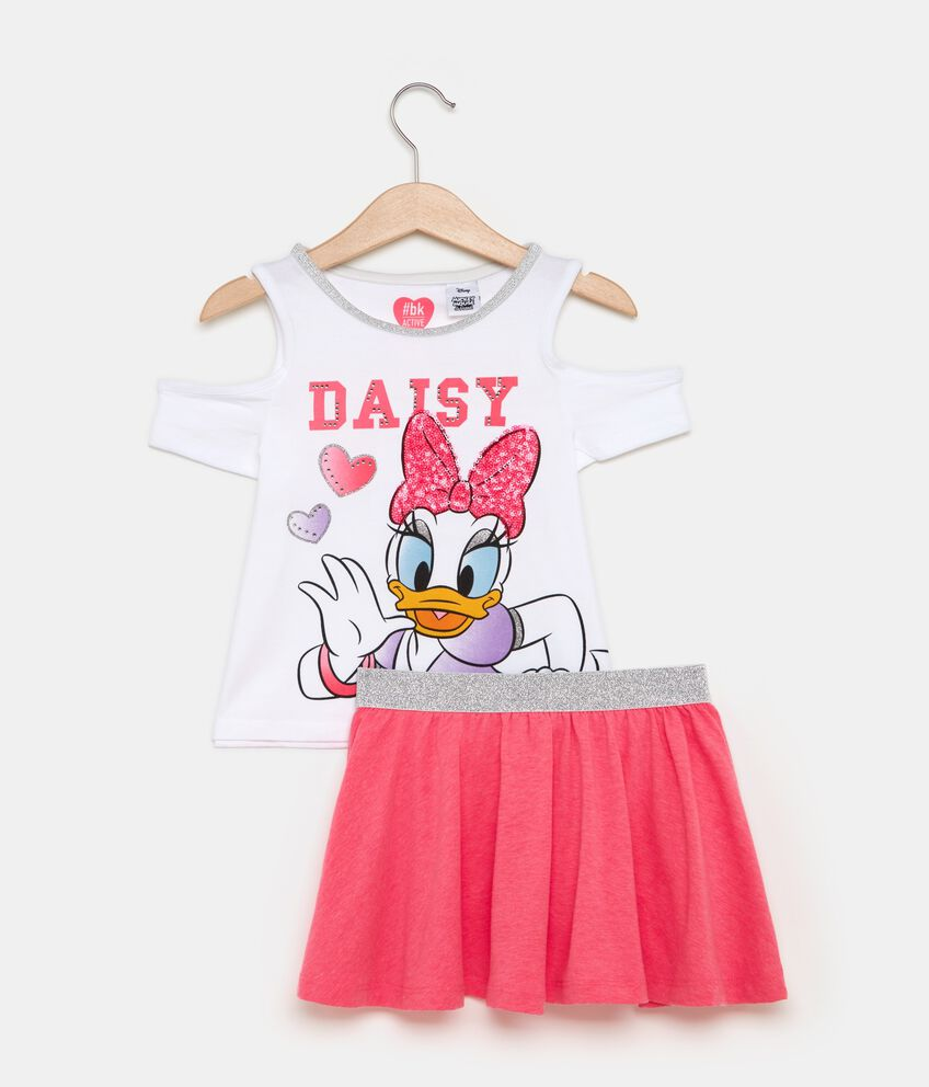 Set t-shirt spalle scoperte e gonna tulle bambina