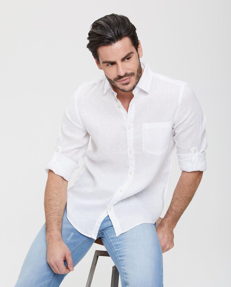 Camicia in puro lino a maniche lunghe uomo