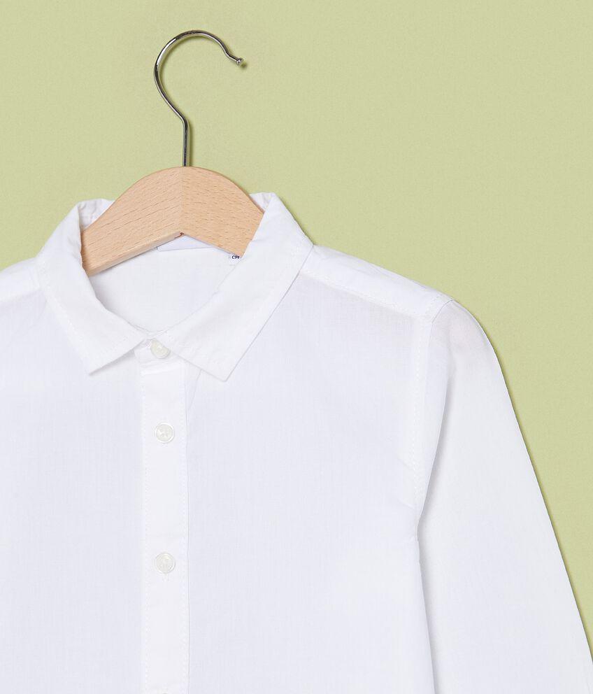 Camicia a maniche lunghe in puro cotone bambino