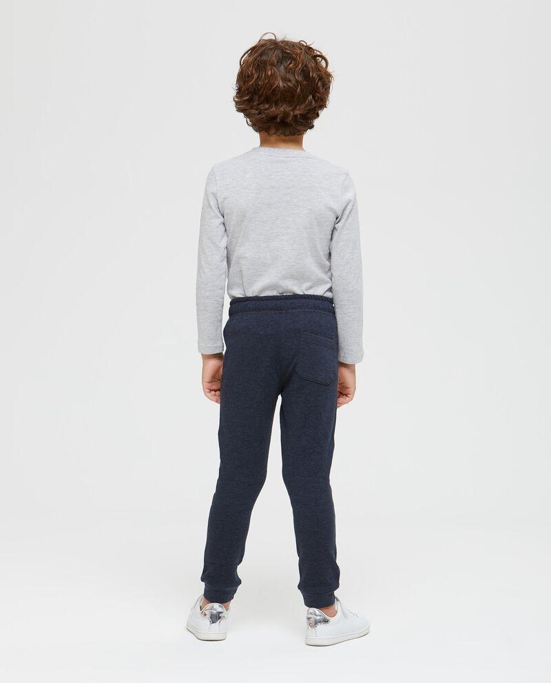 Pantaloni mélange con tasca posteriore