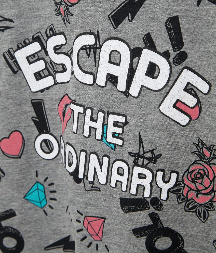 T-shirt in cotone misto viscosa con fiocco ragazza