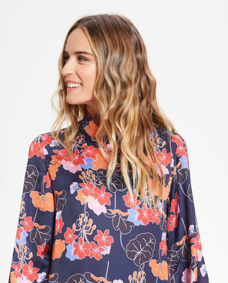 Vestito camicione con fantasia floreale donna