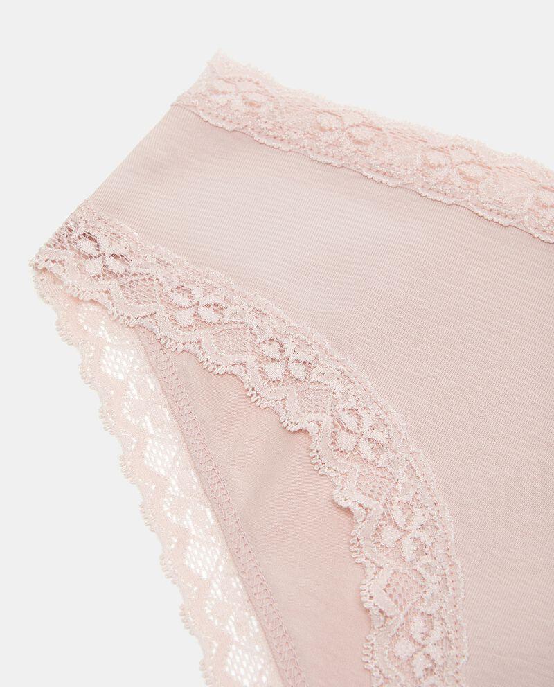 Slip a vita alta in cotone elasticato donna single tile 1
