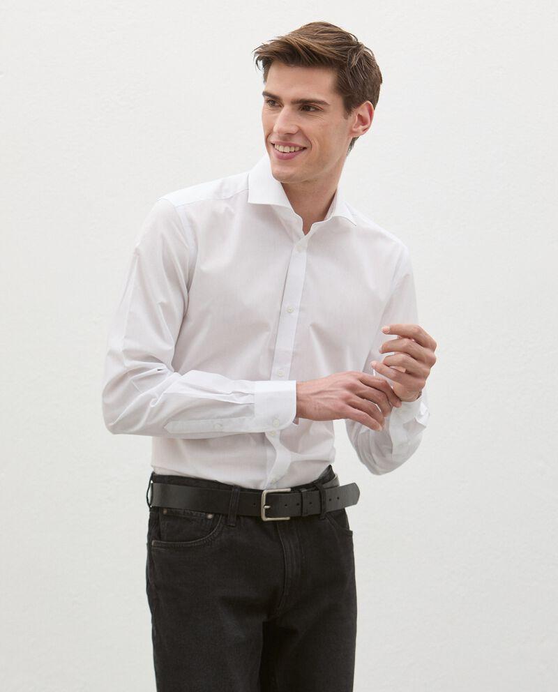 Camicia in cotone tinta unita uomo cover