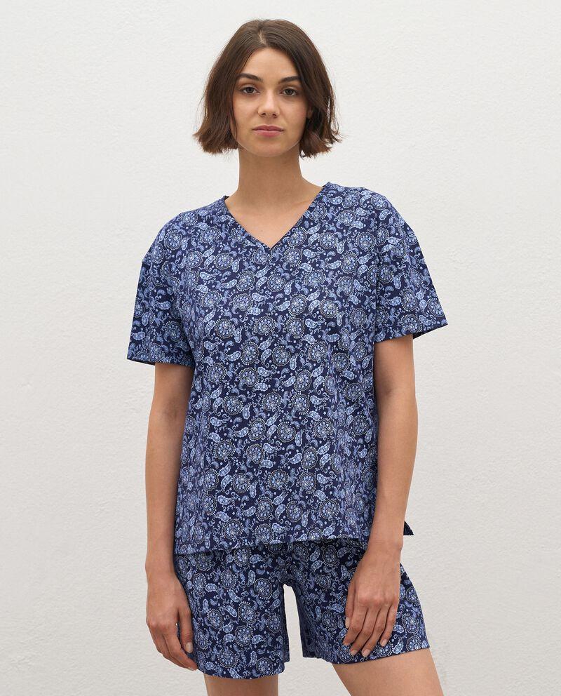 T-shirt pigiama in puro cotone donna cover