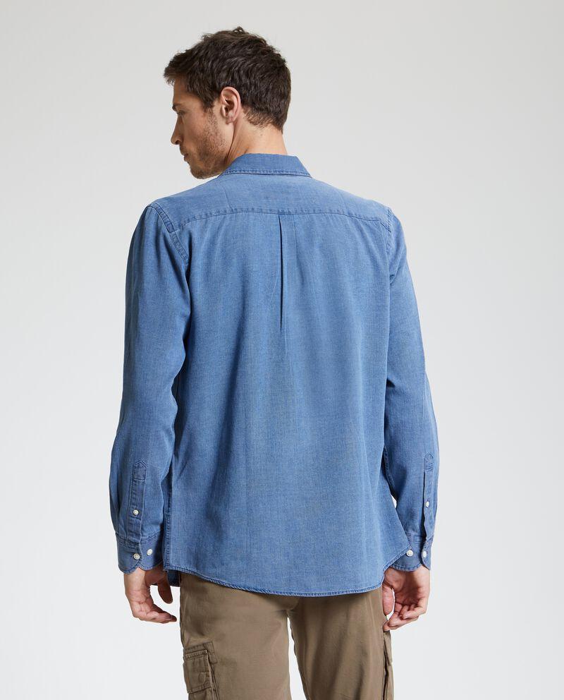 Camicia slim in puro cotone uomo