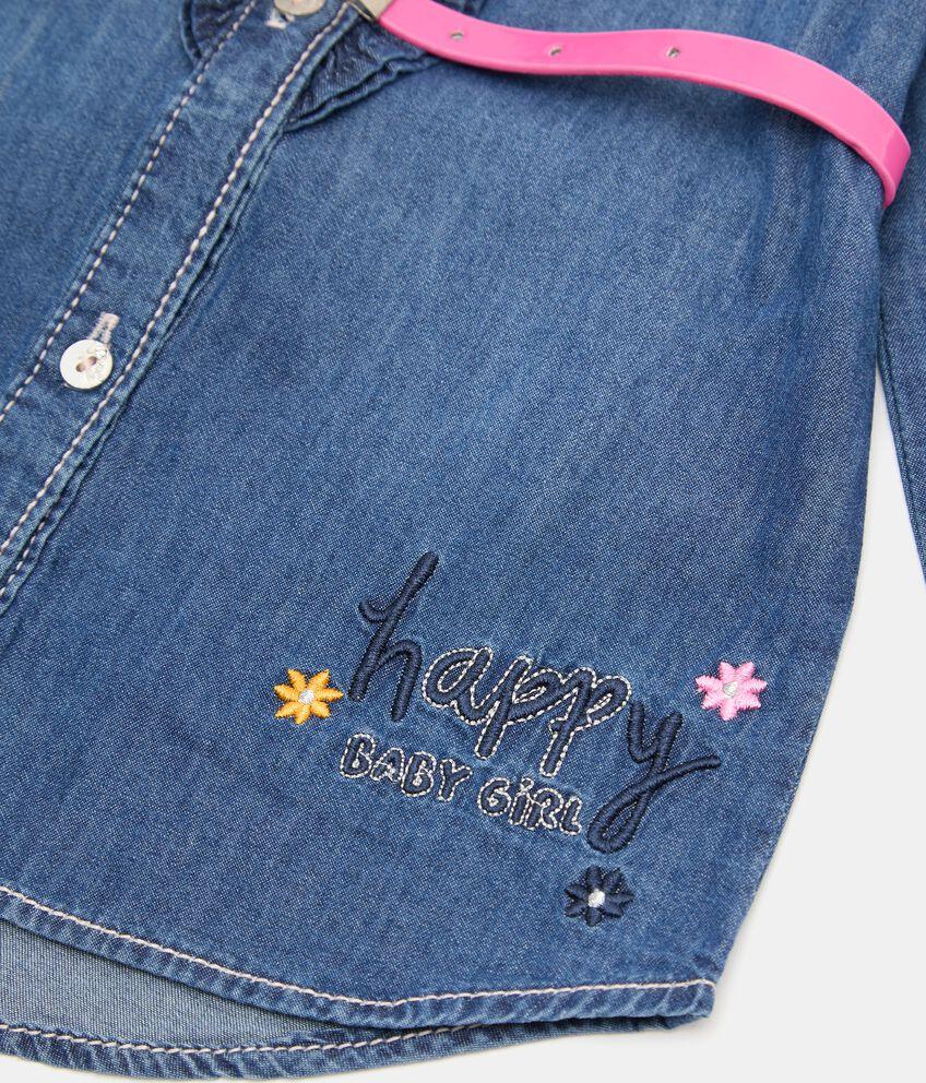 Camicia in denim leggero neonata double 2
