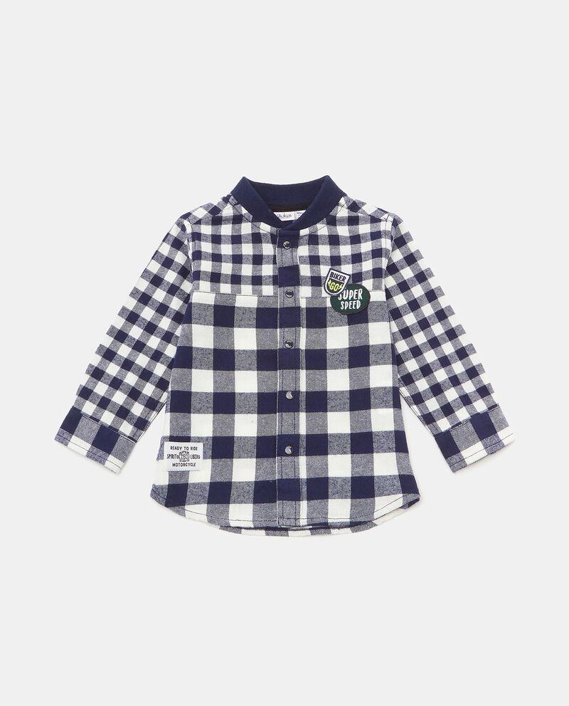 Camicia con motivo a quadri in cotone biologico neonato