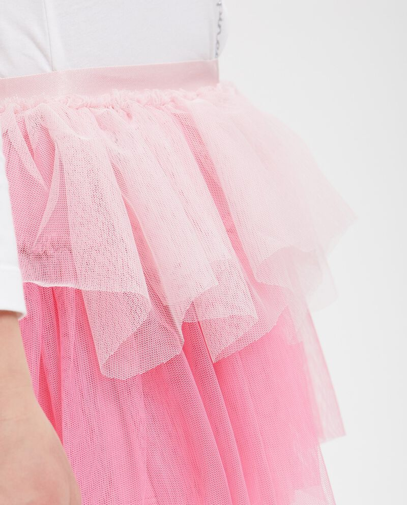 Gonna a balze in tulle bicolore