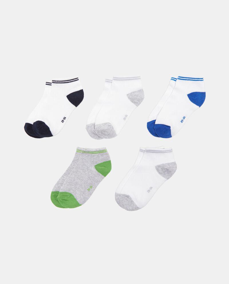 Set cinque paia di calze corte bicolore
