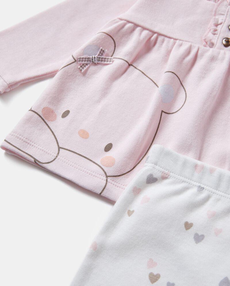Completino puro cotone con maglia e pantaloni