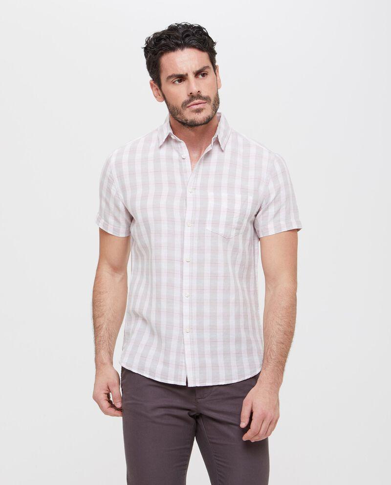 Camicia lino e cotone fantasia quadri