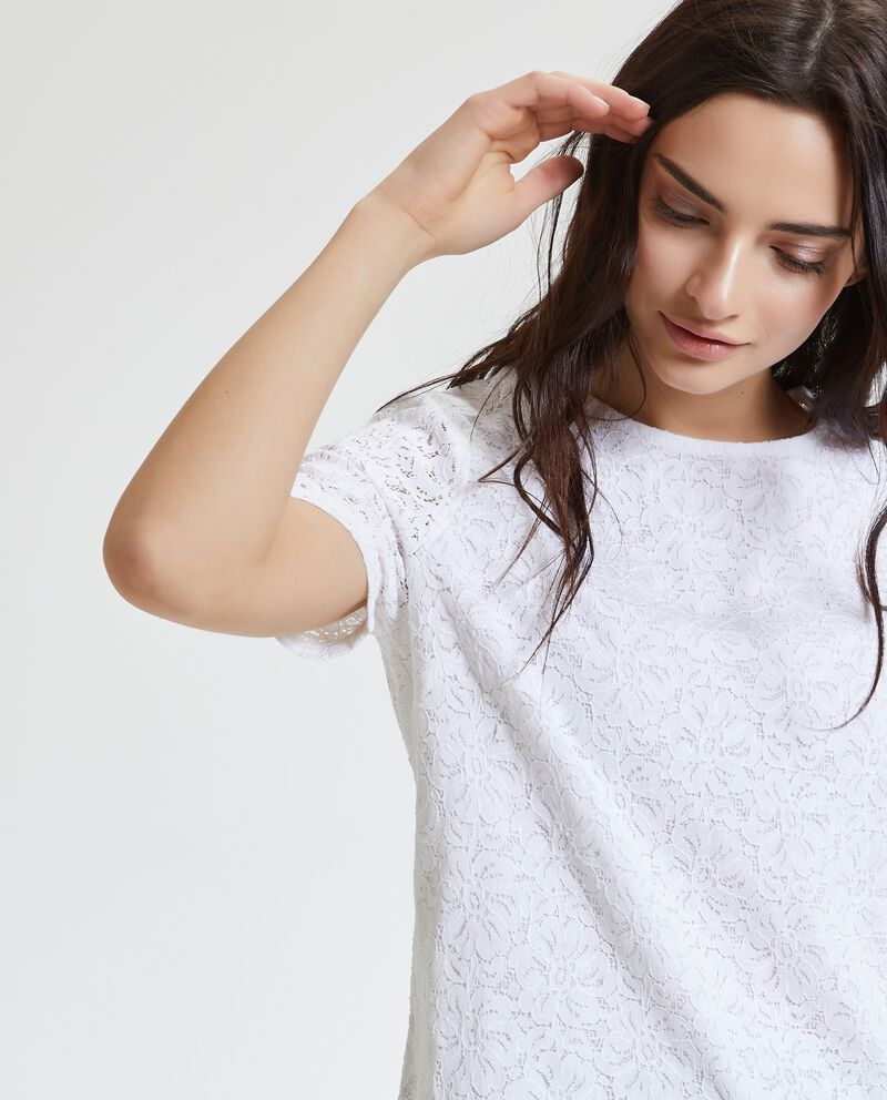 Blusa in pizzo donna cover