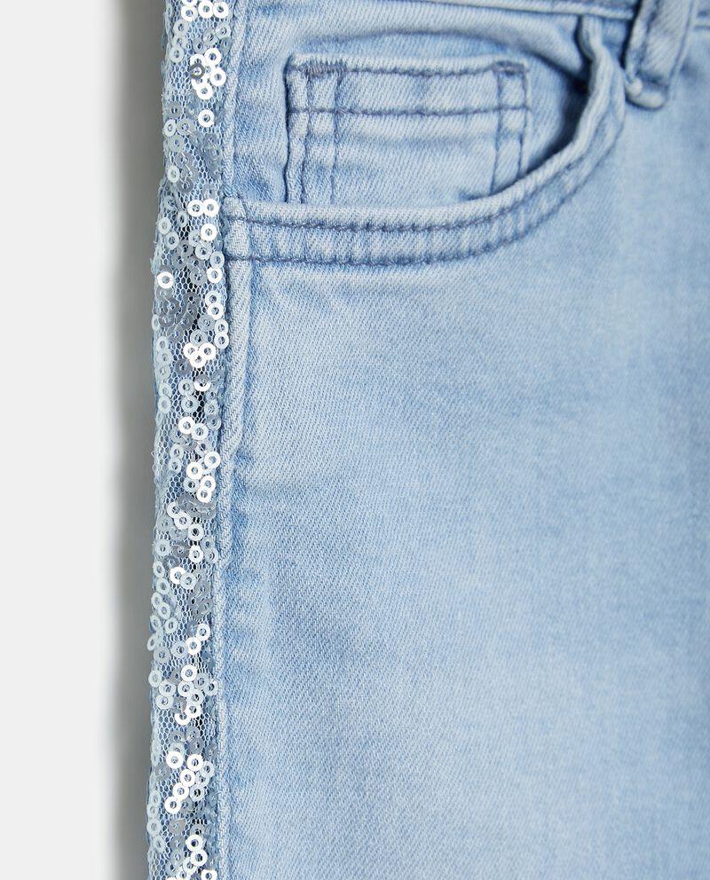 Jeans denim in cotone elasticizzato bambina