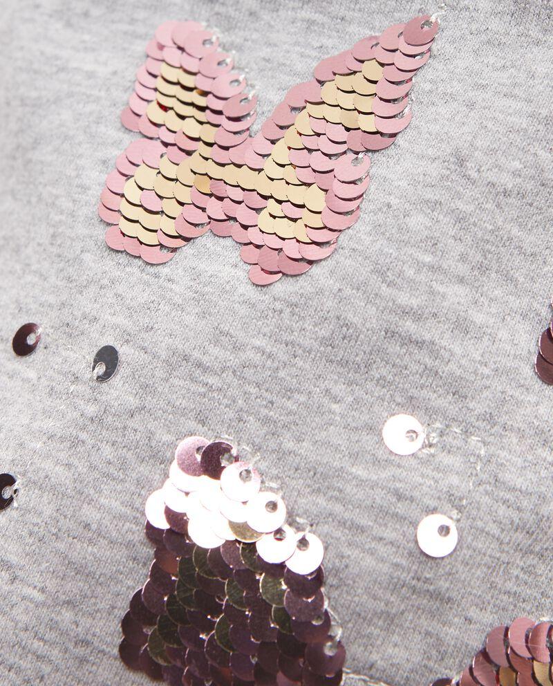 Cappello invernale con farfalle in paillettes bambina