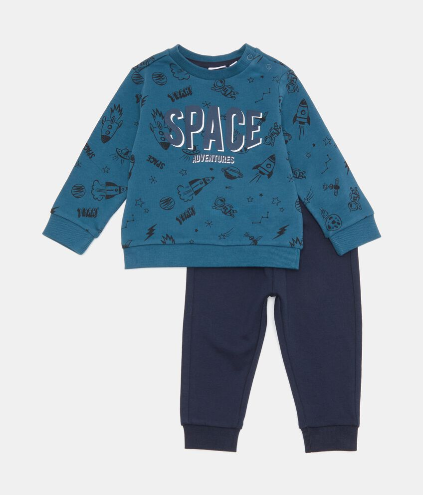Set jogging in puro cotone con maglia e pantaloni neonato