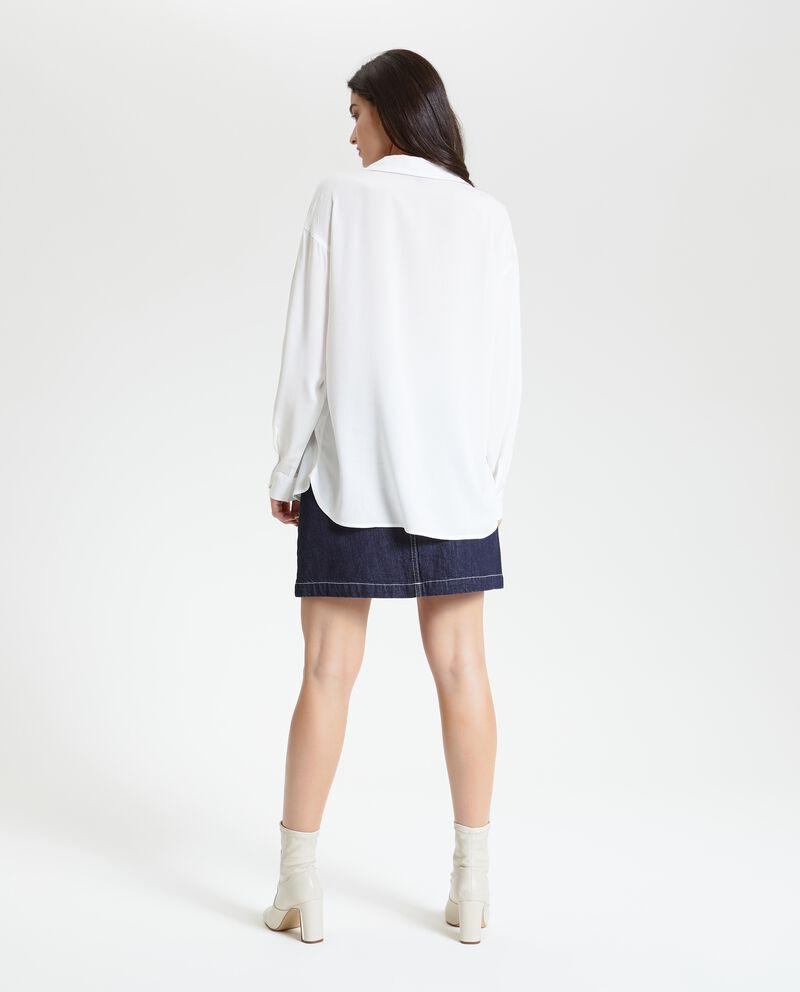 Camicia lunga tinta unita donna