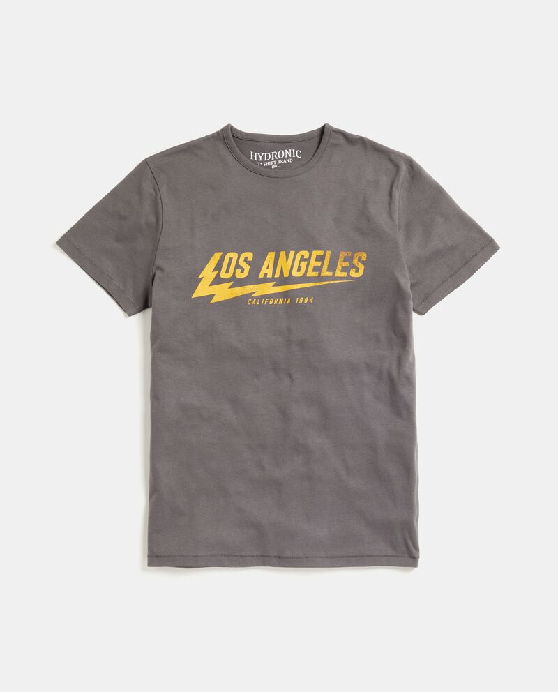 T-shirt puro cotone stampata uomo