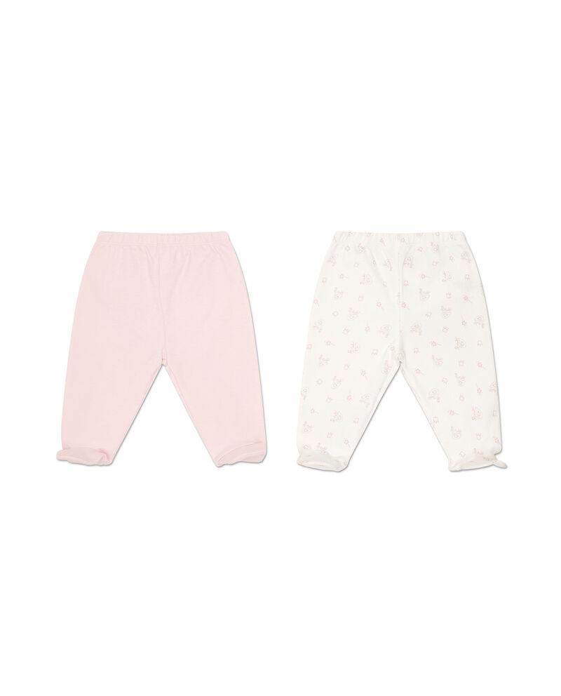 Set due paia pantaloni cotone