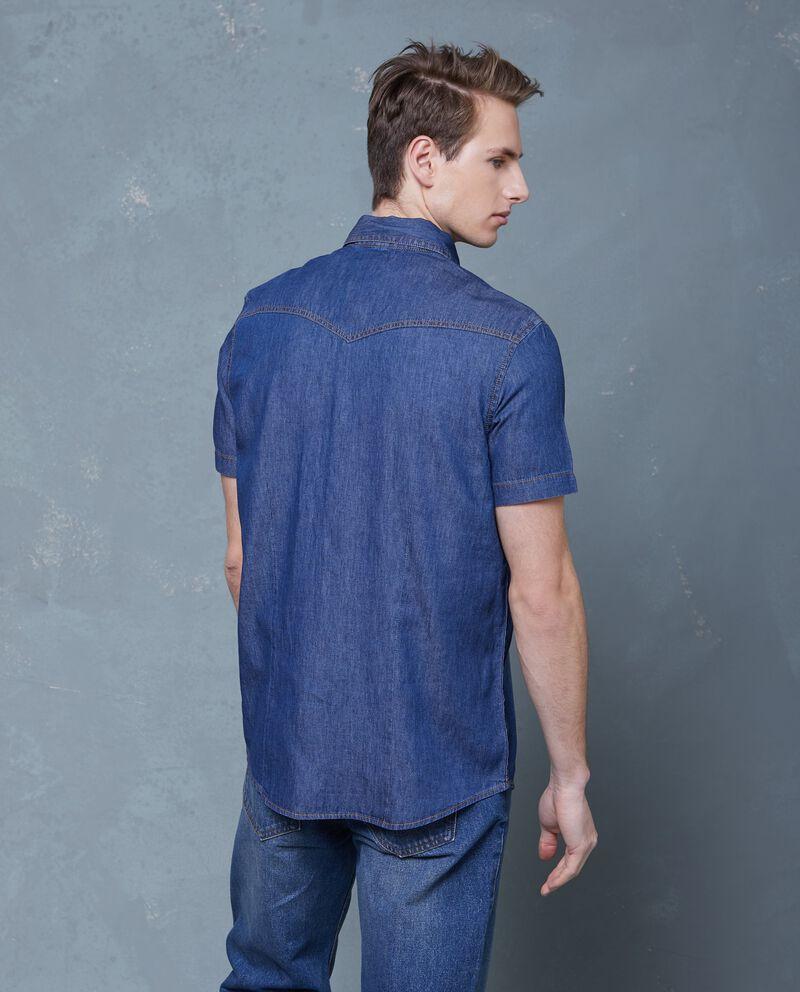 Camicia in puro cotone effetto denim