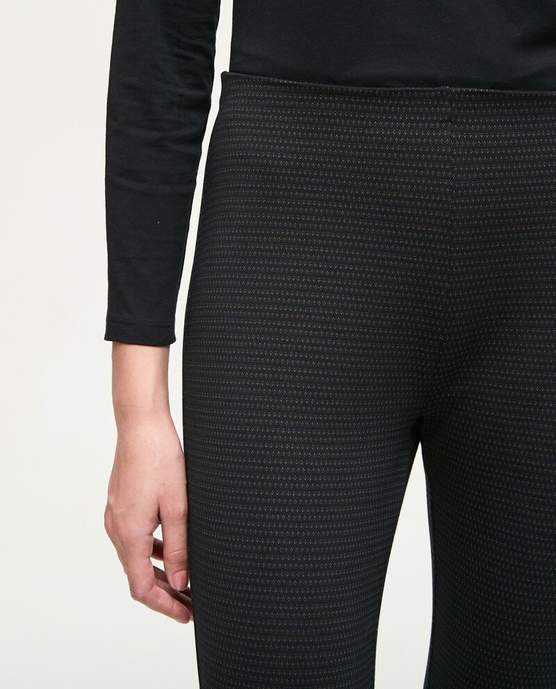 Leggings stretch trama geometrica